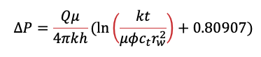 Equation for Infinite Acting Radial Flow (in metric units)